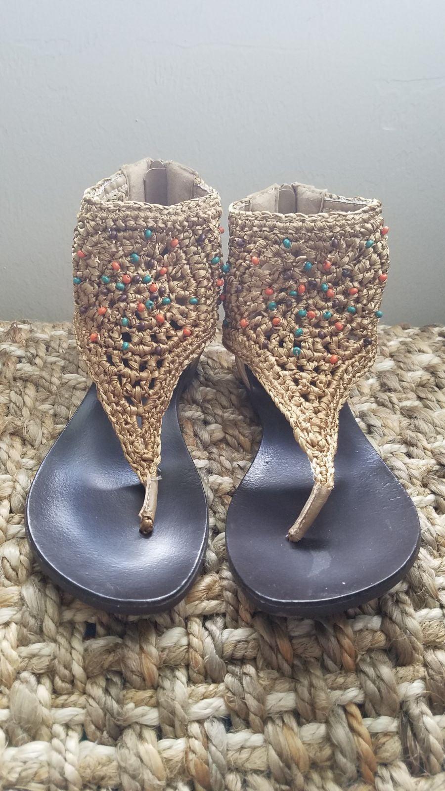 XOXO  Beaded Knit Gladiators 7.5/37.5