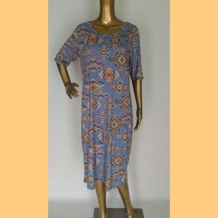 LulaRoe Aztec Tribal Half Sleeve Dress