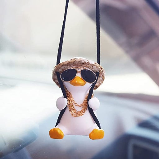 Swing Duck Car Pendant Mirrors Charms