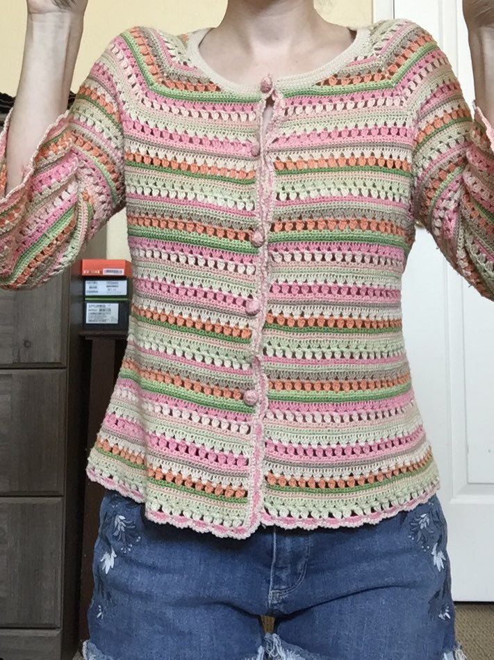 Crochet cardigan trendy