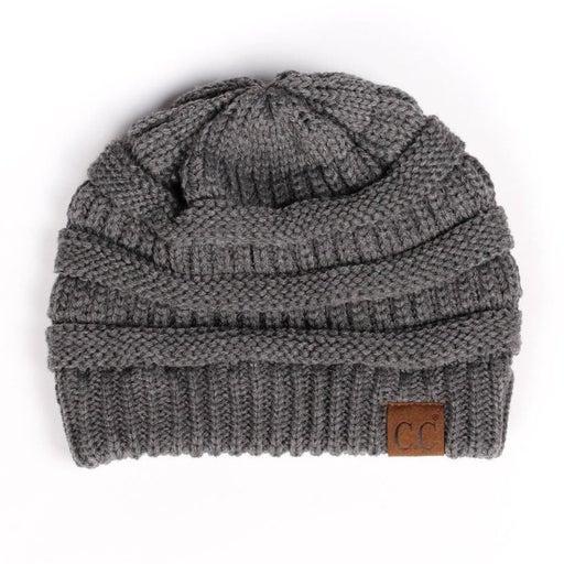 CC CLASSIC Knit Beanie Hat (Dk Grey)