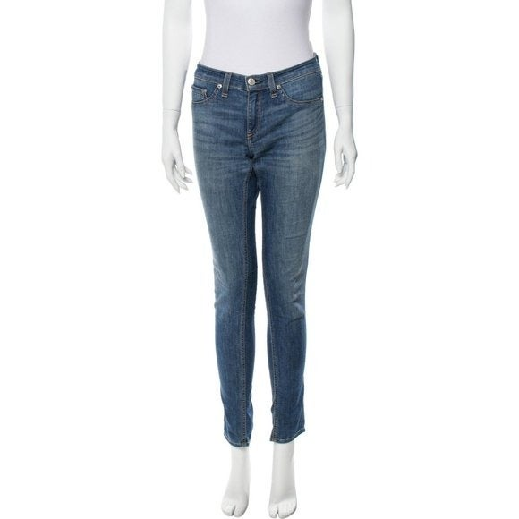 Rag & Bone High Waisted Medium Wash Jean