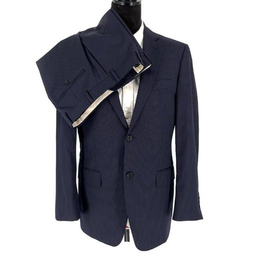 CANALI Navy Pinstriped 2 Piece Suit 38R