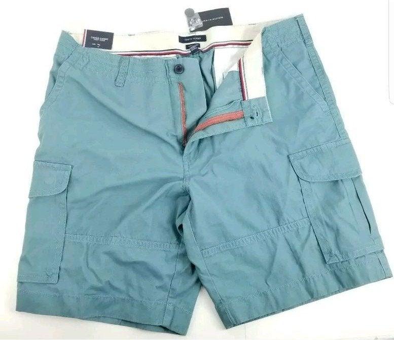 Tommy Hilfiger Turquoise Cargo Shorts