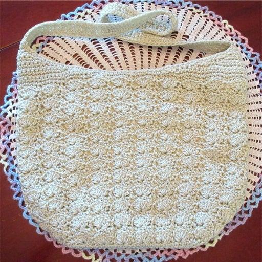 Croft & Barrows Beige Cream Crochet Hobo Boho Shoulder Bag Purse New