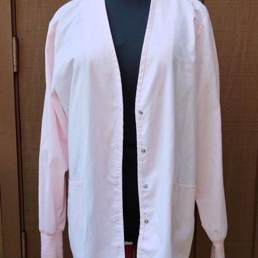 XS Light Pink Scrub Jacket by Crest