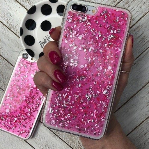 NEW iPhone 7P/8P Pink Bling Foil Case