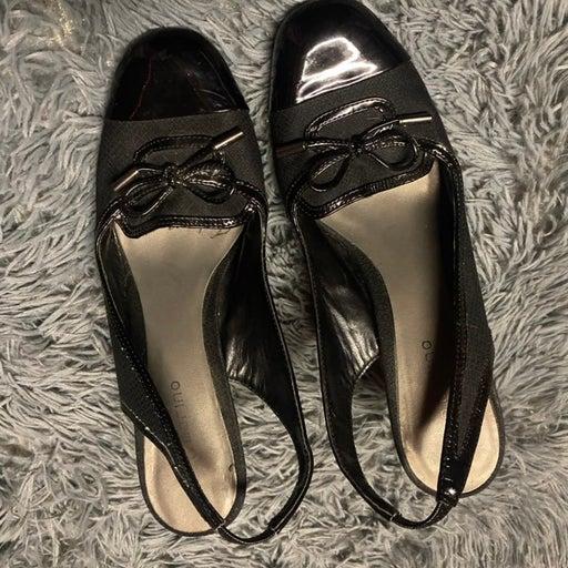 Black work sandals
