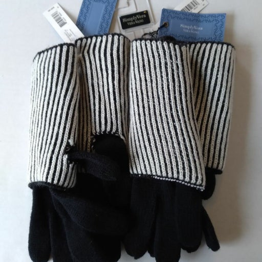 2 Pair women's mittens gloves Simply Ver
