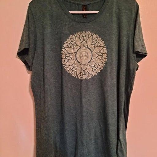 Ogunquit Maine, Mandela Women's Green T Shirt, Live, Love , Laugh, sz XL