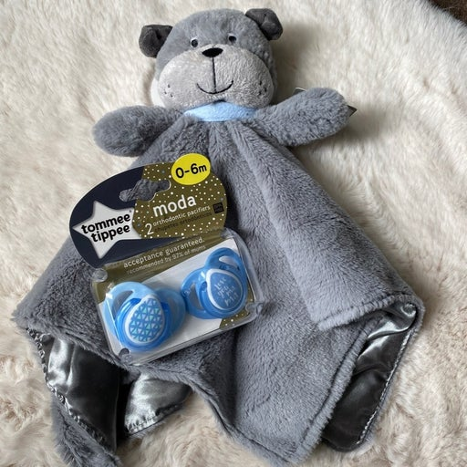 Plush Security blanket and pacifiers