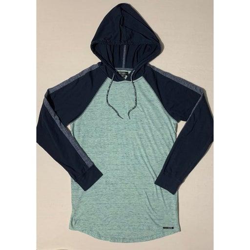 Ocean Current Green Blue Hoodie Long Sleeve Tee