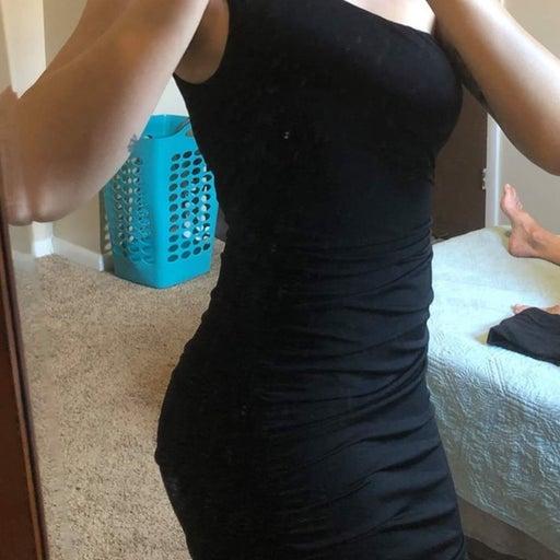 Prom/Homecoming Black Embellished Dress