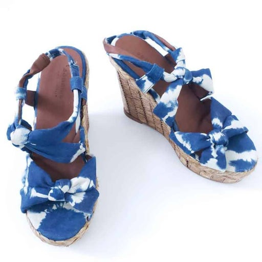 Sonoma Platform Wedge Sandals Open Toe Tie Dye 6