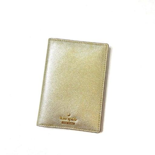 Kate Spade_Passport Leather Gold Holder