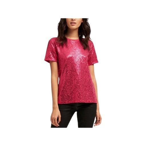 DKNY Hot Pink Sequin Tee XS NWOT