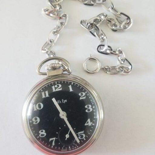 Vintage Bull Frog Working Pocket Watch