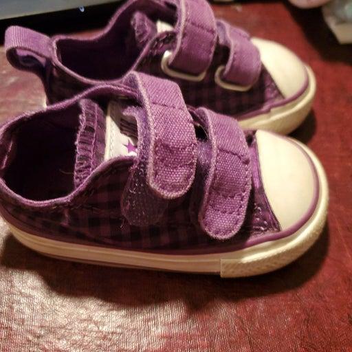 Converse Allstar purple checkered size 3