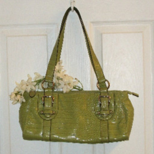 CROFT & BARROW Croc Embossed Handbag NEW