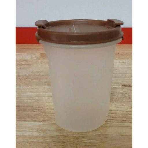 Tupperware Modular Mates Store N Shake Container #1606-25 Brown Lid #1919-1