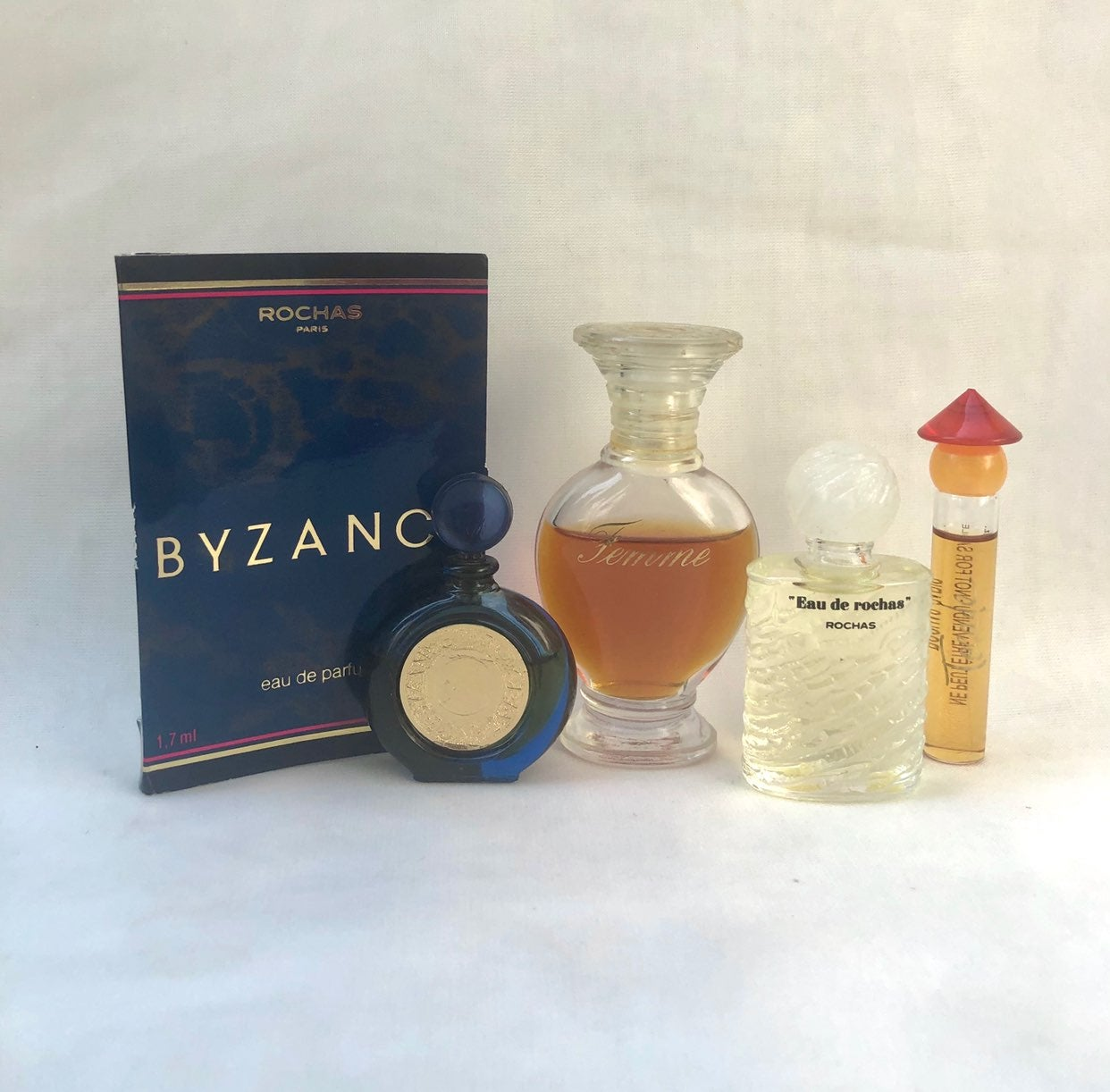 Vintage Rochas Mini Perfumes Byzance Fem