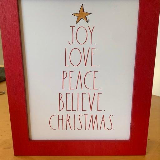 Rae Dunn Christmas sign