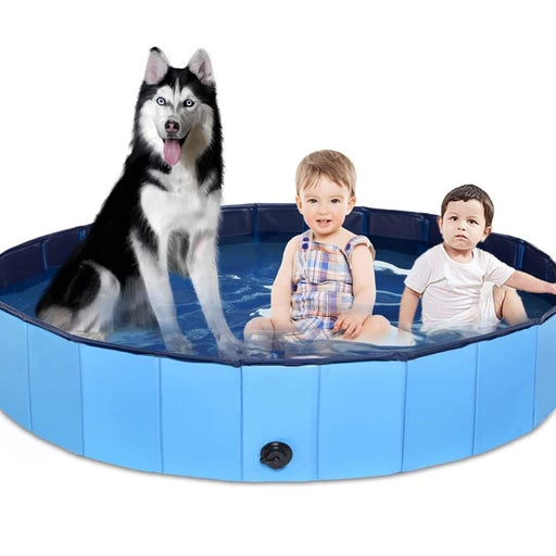 160cm XXL Foldable Pet Dog Bath Tub Swimming Pool Collapsible Puppy Cat Indoor O