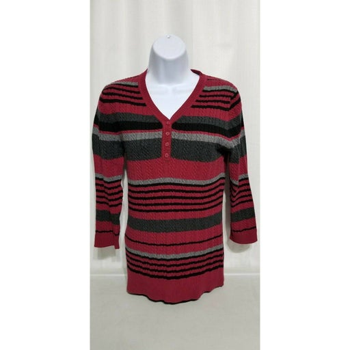Croft & Barrow M Striped Sweater Cable