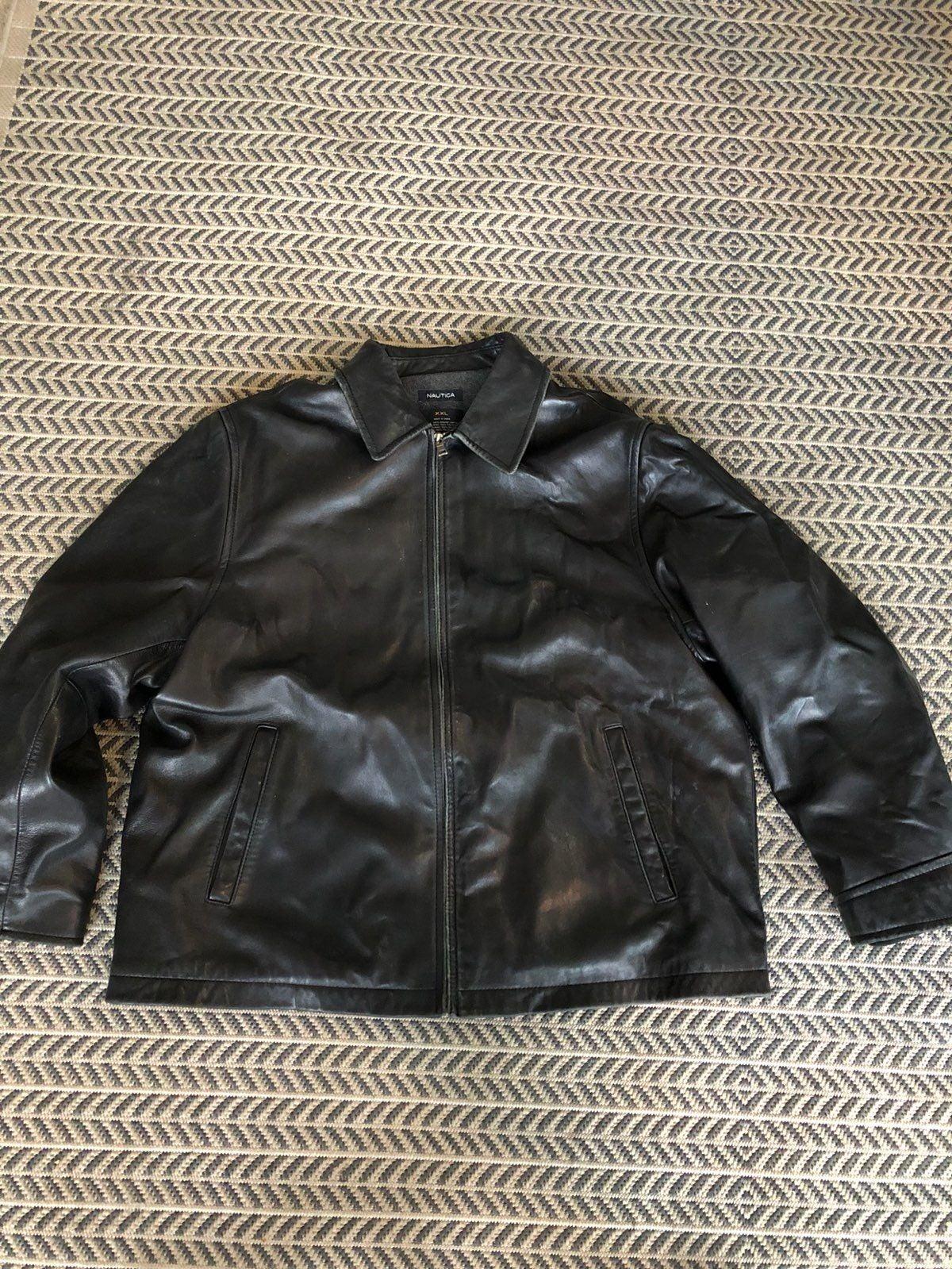 Nautica Leather Coat