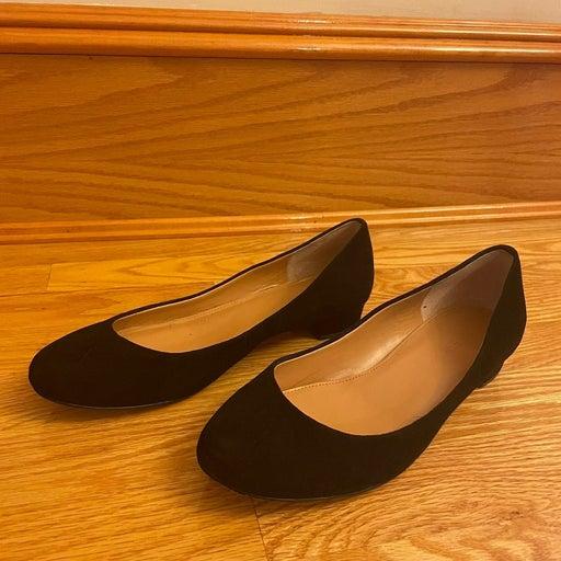 J.Crew Suede Ballet Flats in Black Size 7