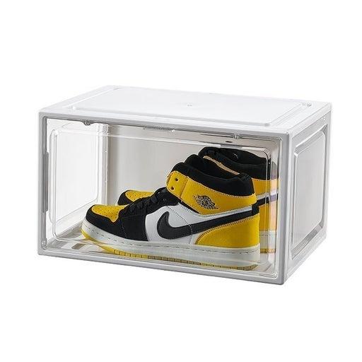 2 pc Magnetic Shoe storage box set white