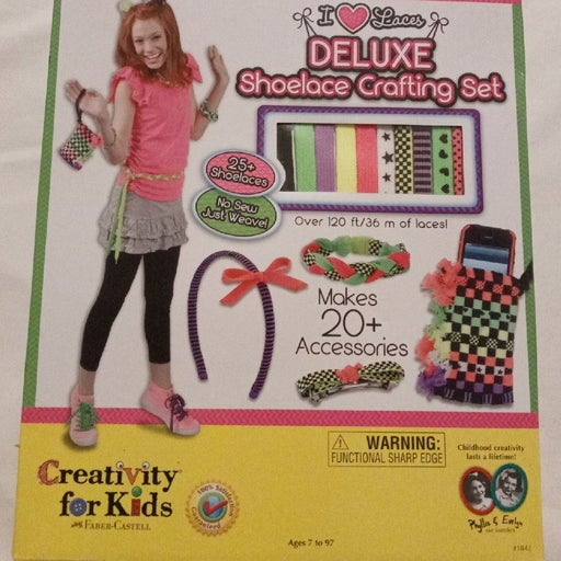 Creativity for kids Deluxe shoelace craf