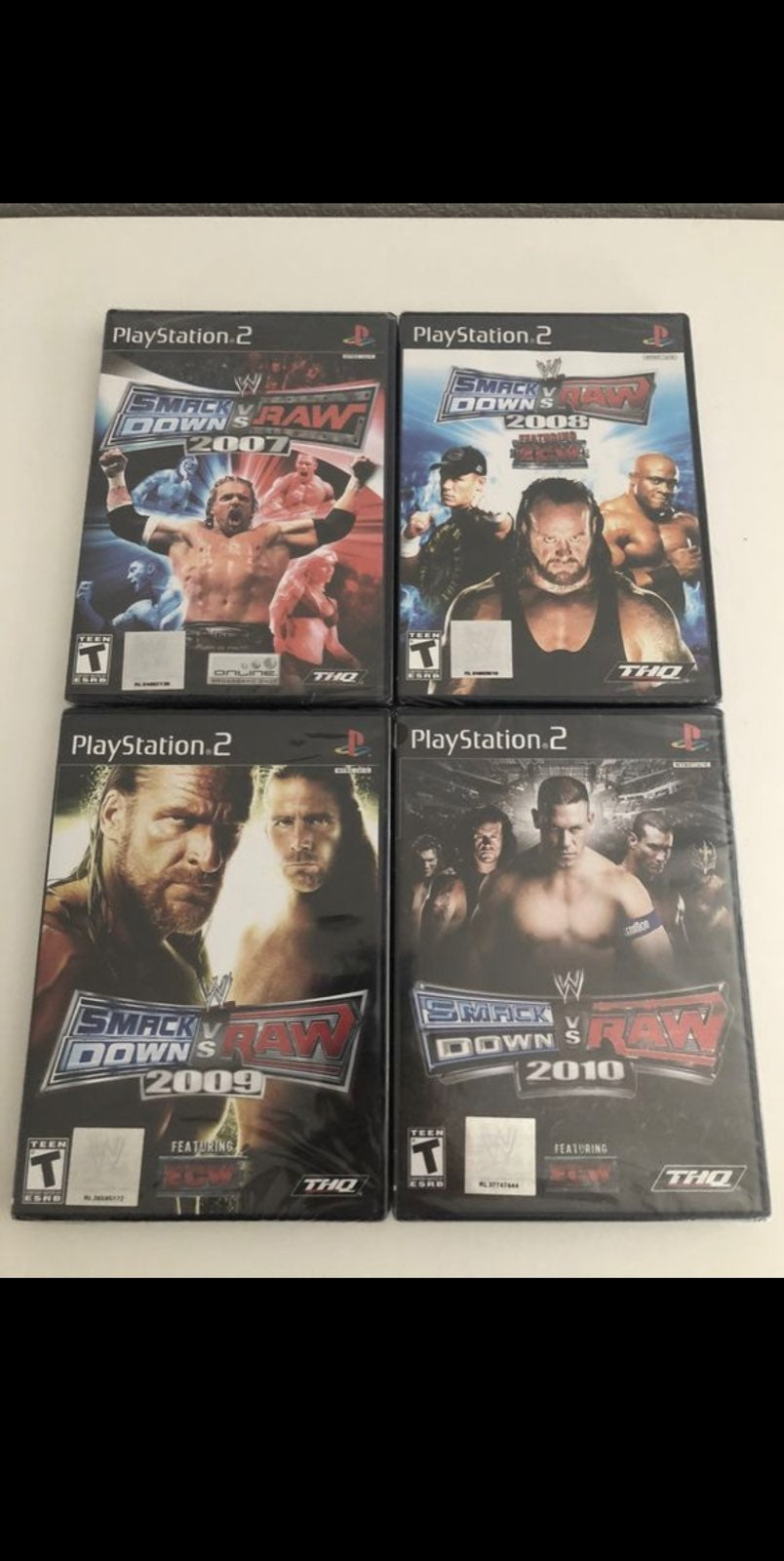 Ps2 wwe 2007 2008 2009 2010 new