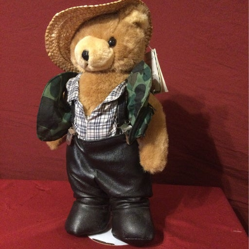 Fishin Floyd Plush Bear Figurine, stand