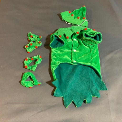 Dog Christmas Outfit Small Green