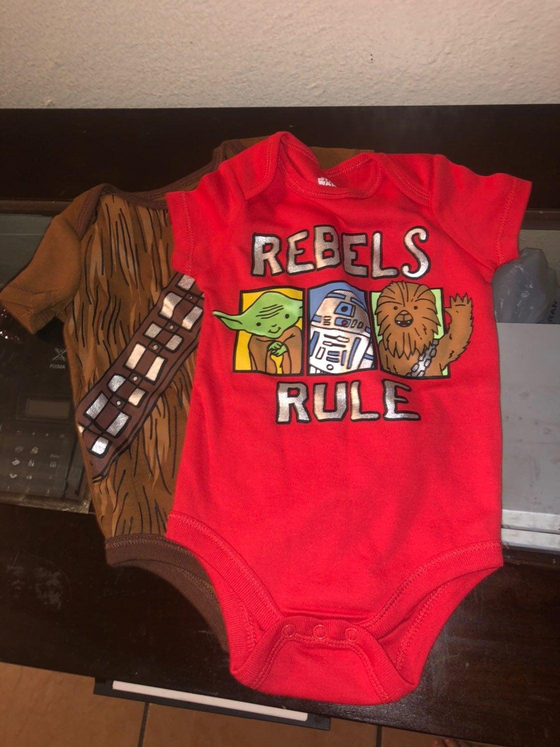 Baby boy star wars onesie