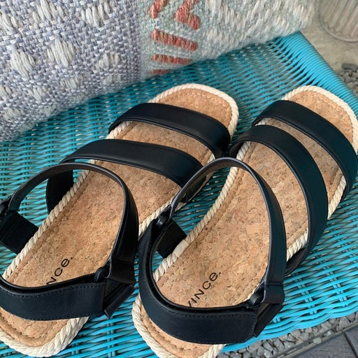 NWT Vince leather espandrille sandals.