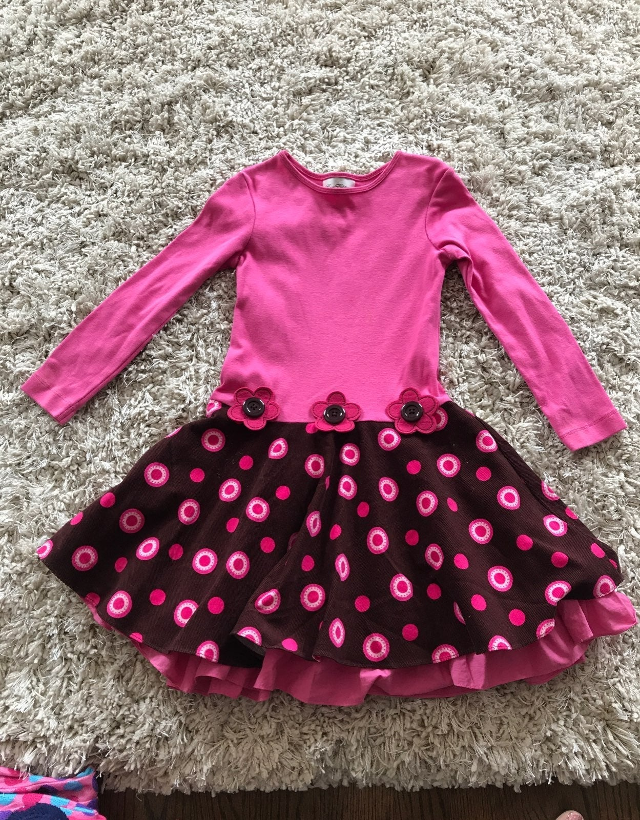 Rare Edition Dress brown and pink 6x