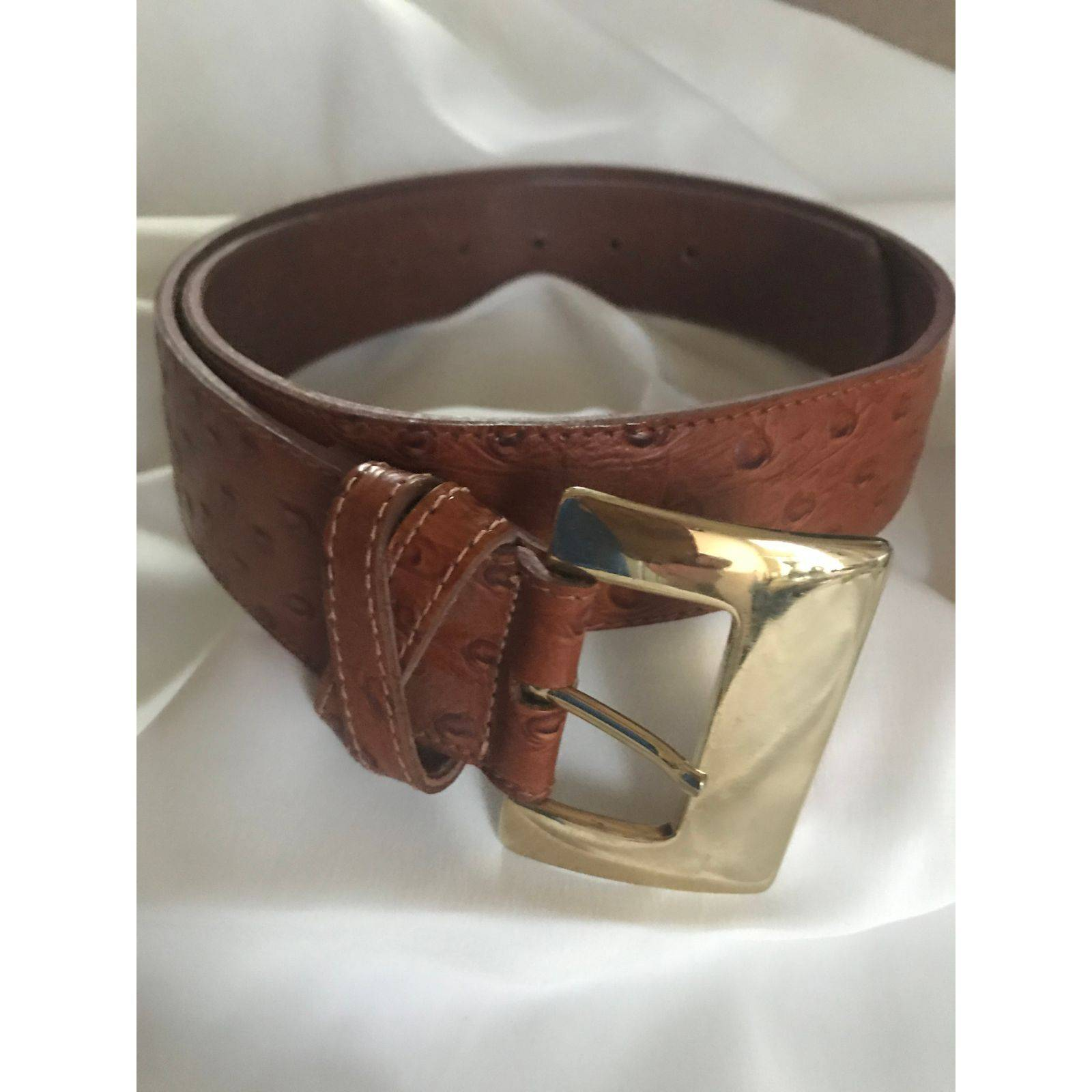 Lt Brown Leather Vintage Belt M/L