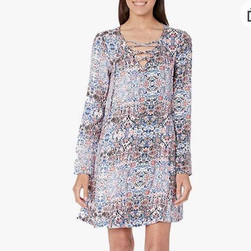 Ella Moss,  Yvette, Print Dress. Med.