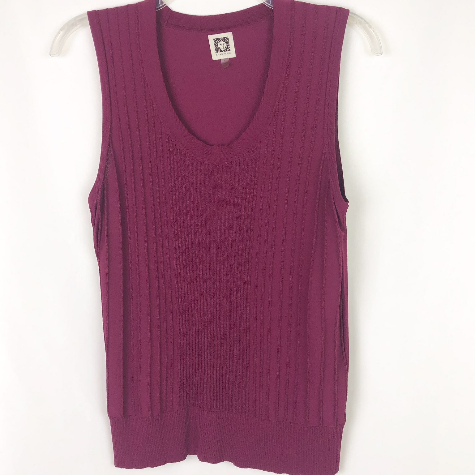 Anne Klein Ribbed Knit Sleeveless Top