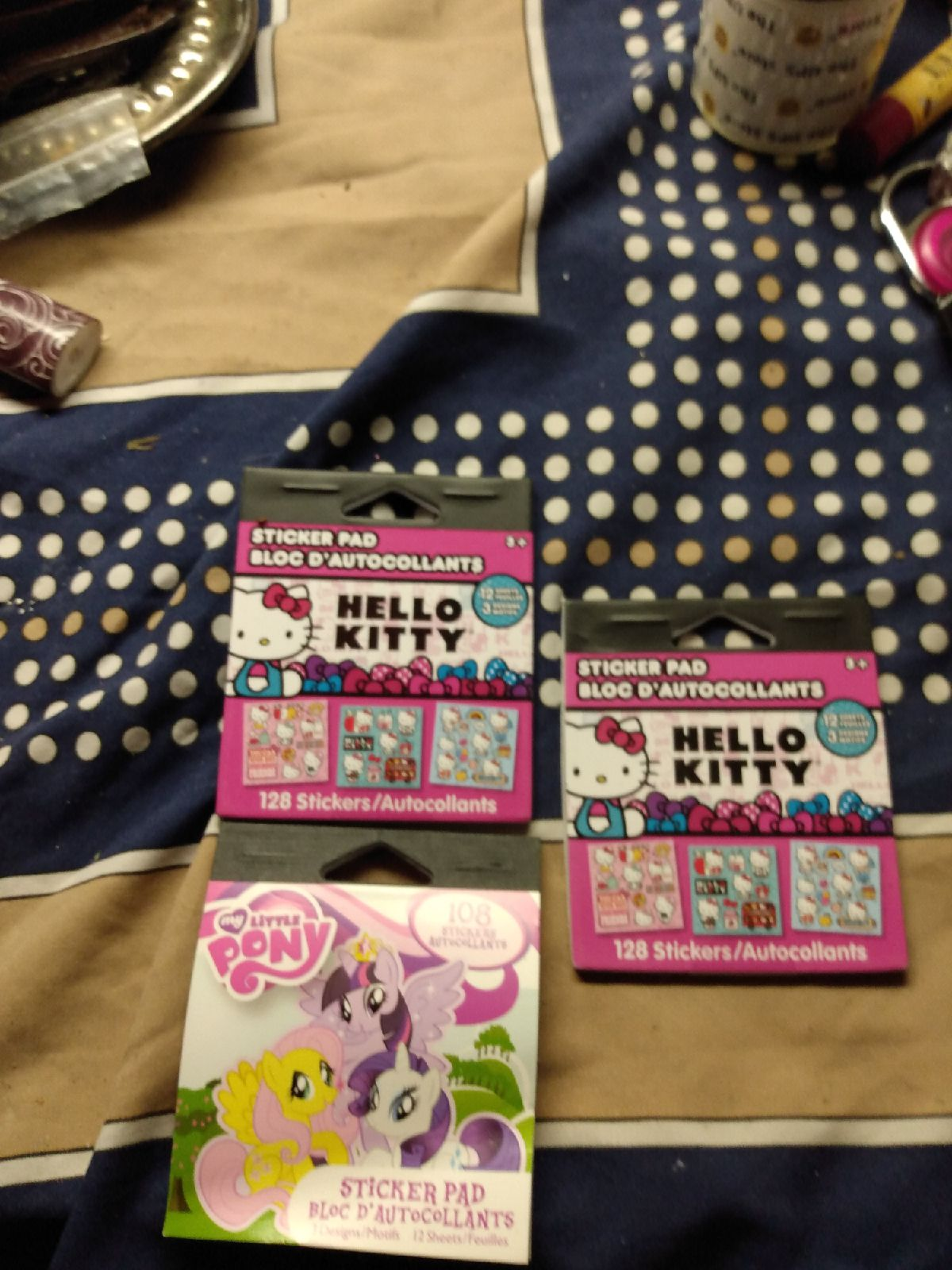 Hello Kitty & My Little Pony Sticker Pad