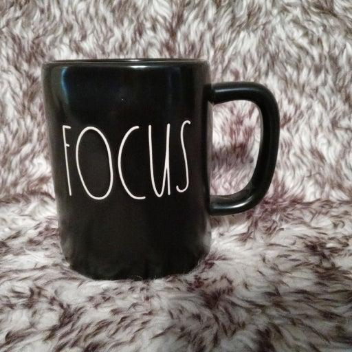 Rae dunn black FOCUS mug