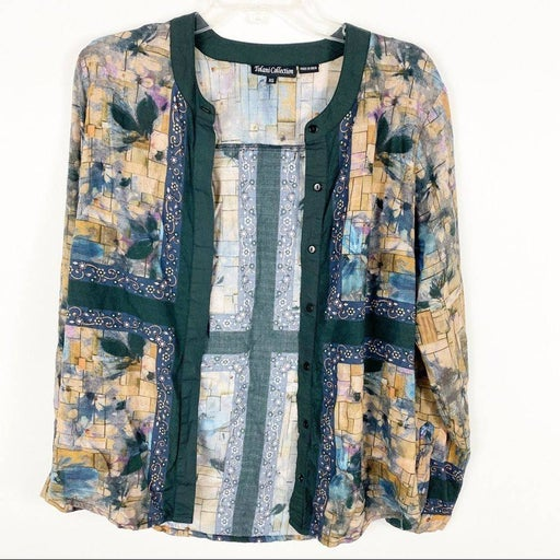 Tolani Collection floral button up blouse