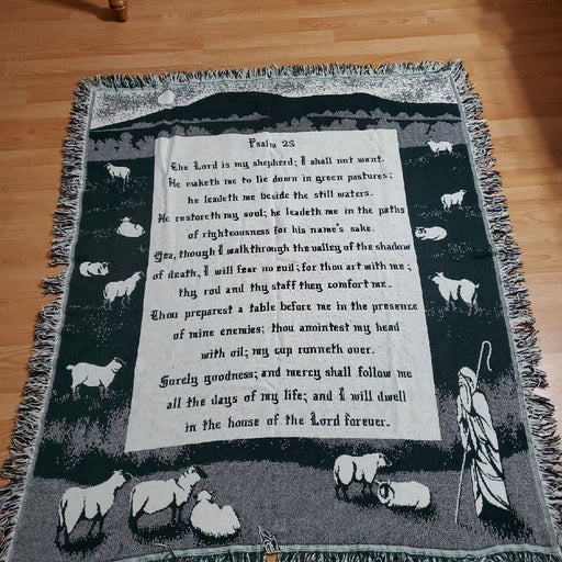 Crown crafts made in USA psalm 23 throw.