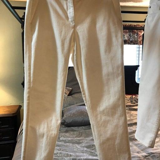 Cremieux White Pants