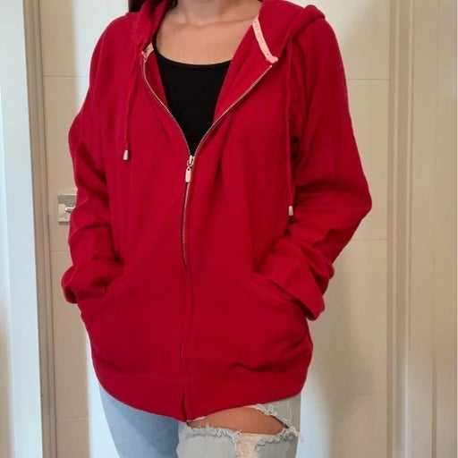 Bright Red Zip Up Jacket