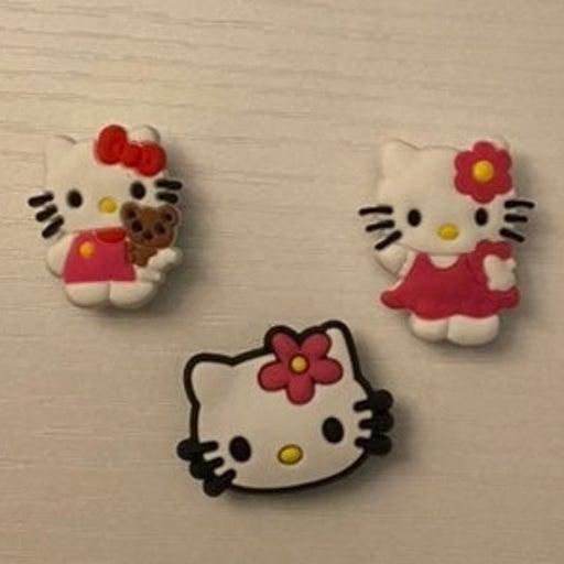 Set of 3 Hello Kitty Croc Charms