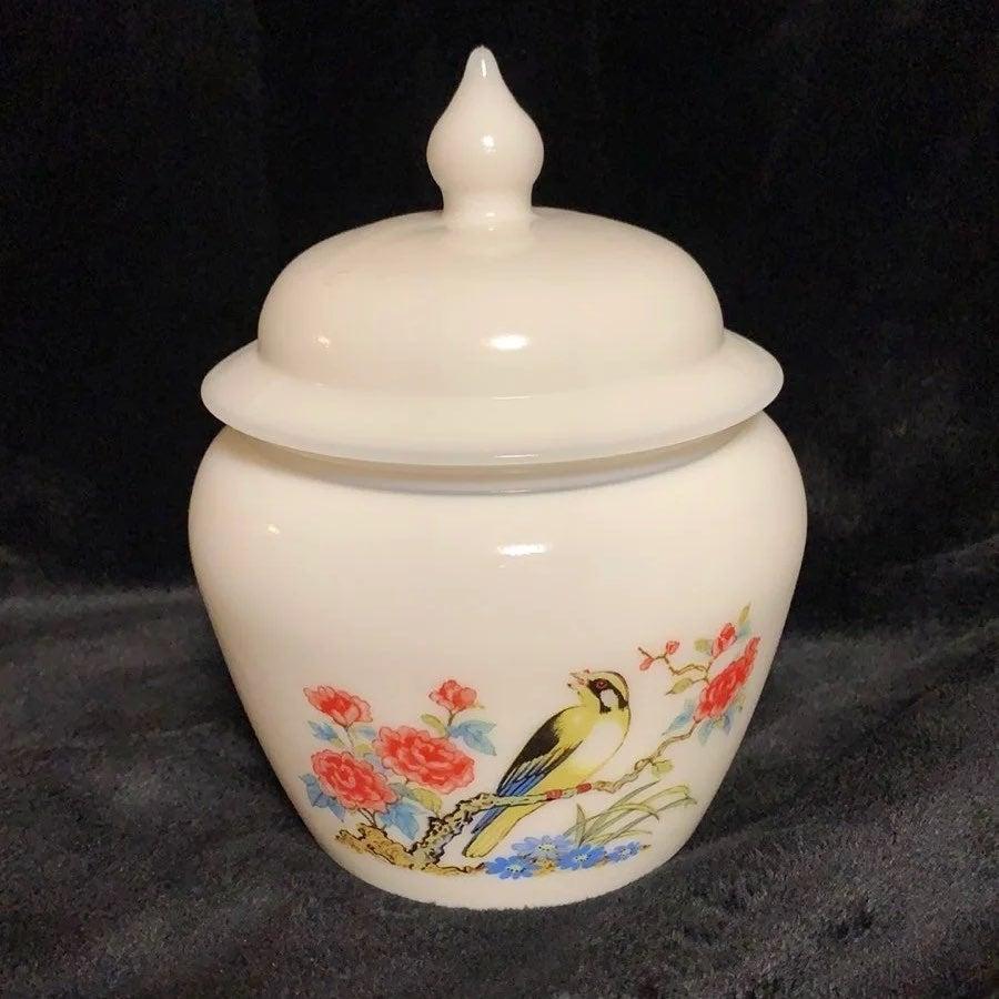 White Bird Ceramic Bird Avon Bird Vintage Bird Milk Glass Bird Collectible Bird