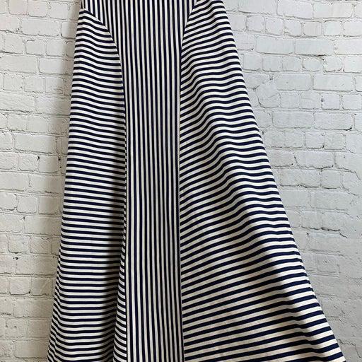 Cremieux Navy Striped Maxi Skirt Sz Sm